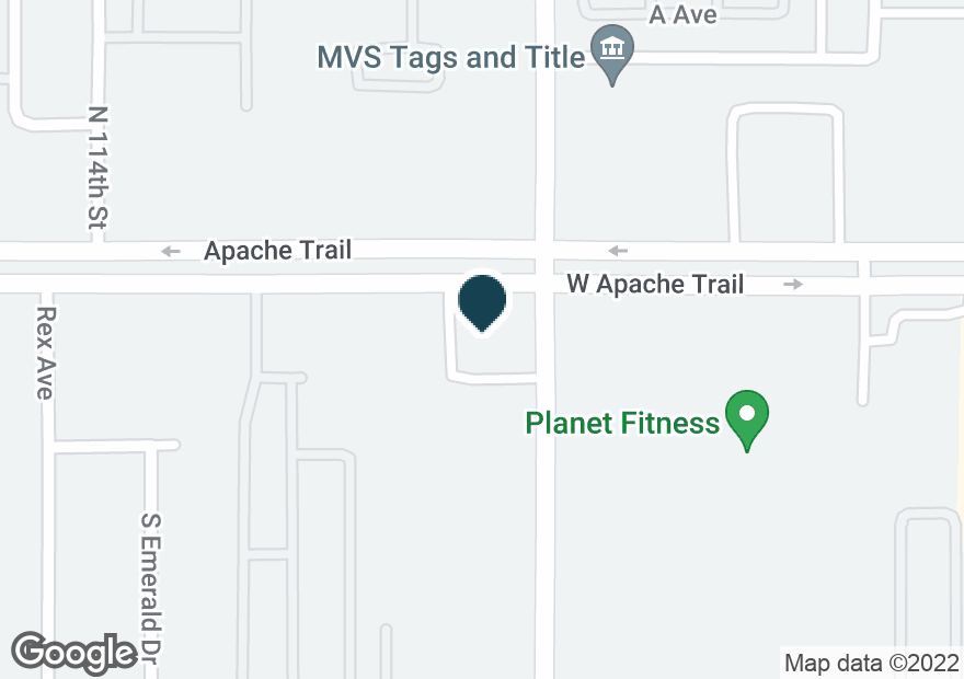 Google Map of11545 E APACHE TRL