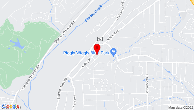 Google Map of 733 Valley Street, Hoover, AL 35226
