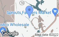 Map of Peachtree City, GA