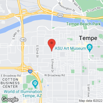 Map of Roddy Gardner, DO at 910 S Priest Drive, Tempe, AZ 85281