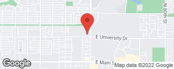 Map of 6740 E University Dr in Mesa