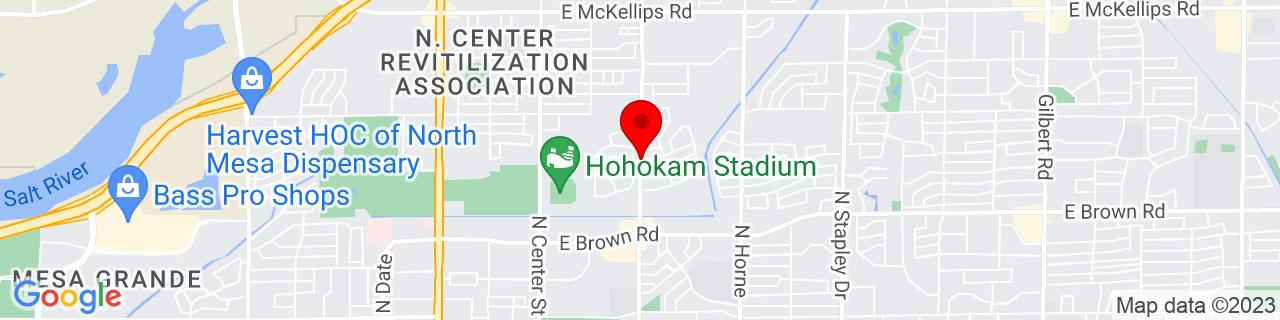 Google Map of 33.4409127, -111.8225721