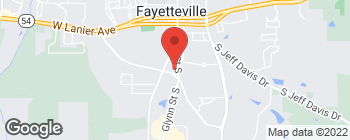 Map of 455 Glynn St S in Fayetteville