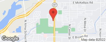 Map of 1530 N Country Club Dr in Mesa