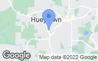 Map of Hueytown, AL