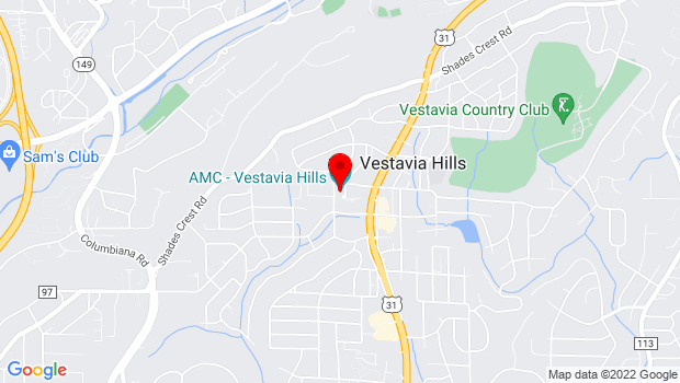 Google Map of 1911 Kentucky Avenue, Vestavia Hills, AL 35216