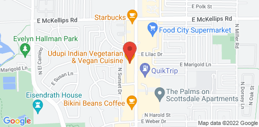 Directions to Udupi Indian Vegetarian & Vegan Cuisine