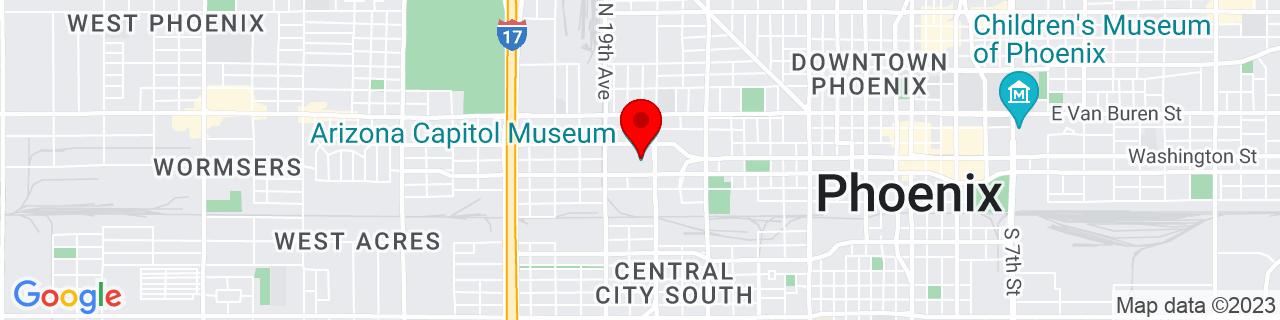 Google Map of 33.4481163, -112.0970296