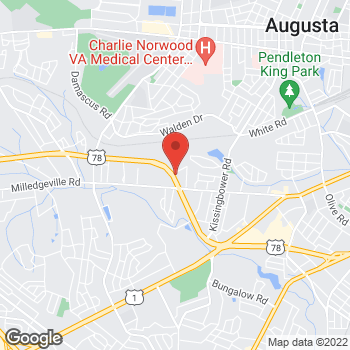 Map of Arby's at 1813 Gordon Hwy, Augusta, GA 30904