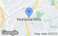 Map of Vestavia Hills, AL