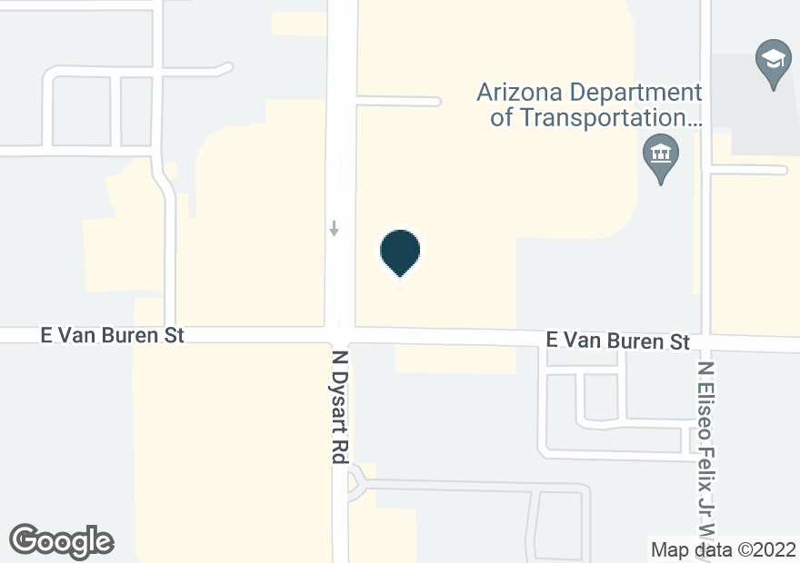 Google Map of1451 N DYSART RD