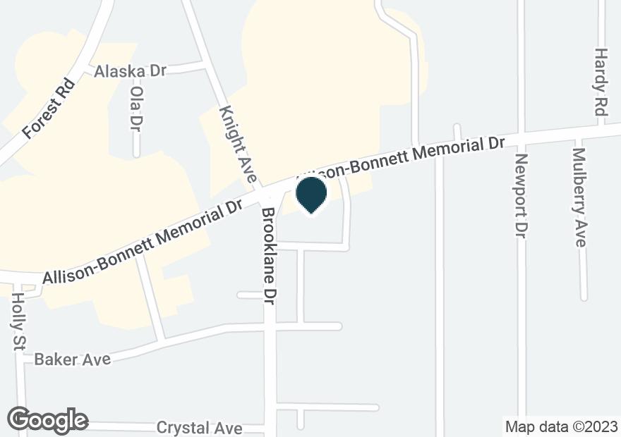 Google Map of3025 ALLISON BONNETT MEMORIAL DR