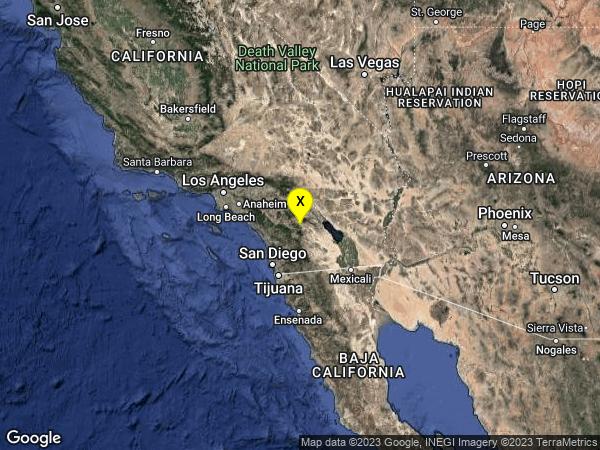 earthquake 16km SE of Anza, CA