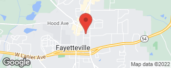 Map of 245 Georgia Ave E in Fayetteville