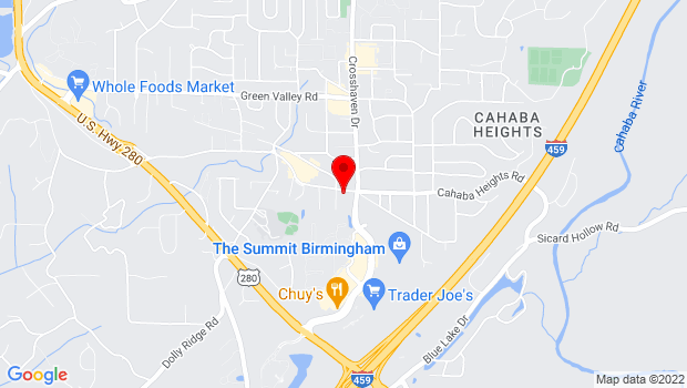 Google Map of 3187 Cahaba Heights Road, Birmingham, AL 35243