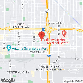 Map of Blazen Draguljic, MD at 1800 E Van Buren Street, Phoenix, AZ 85006
