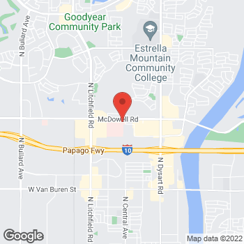 Map of Stephen Larsen, MD at 13555 W McDowell Road, Goodyear, AZ 85395