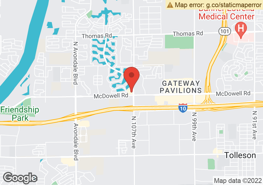 Google Map of 10710 W MCDOWELL RD