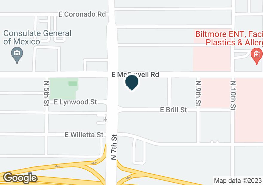 Google Map of705 E MCDOWELL RD