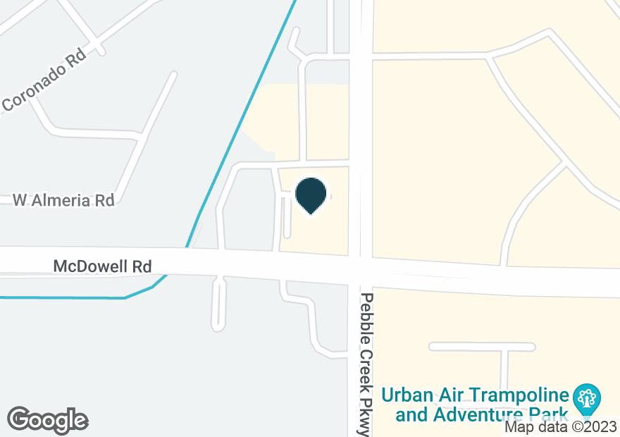 Google Map of1654 N PEBBLE CREEK PKWY