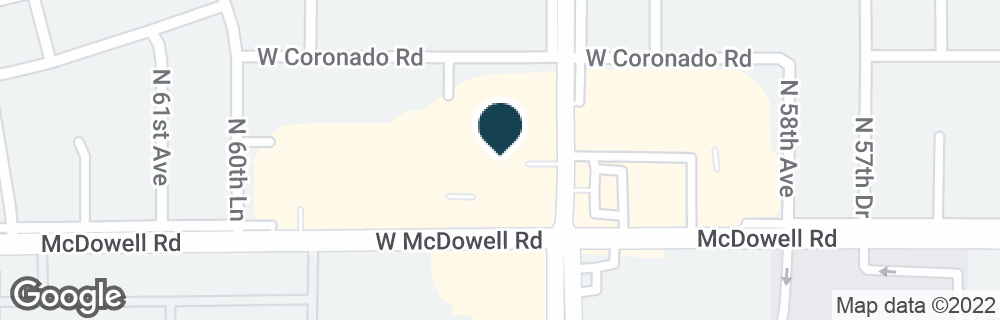 Google Map of1620 N 59TH AVE