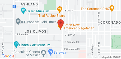 Directions to Green New American Vegetarian