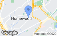 Map of Homewood, AL