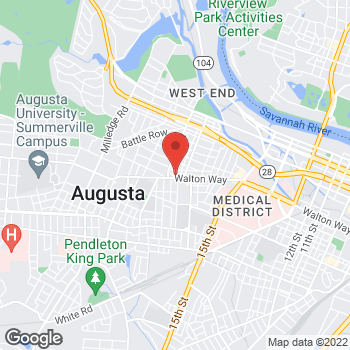 Map of Arby's at 1823 Walton Way, Augusta, GA 30904