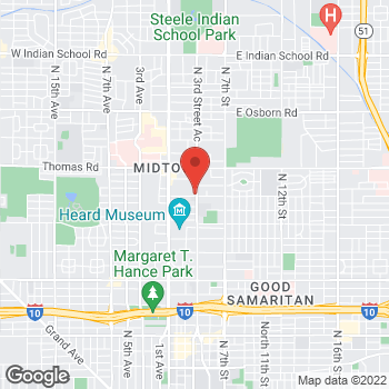 Map of Himabindu Chaparala, MD at 2610 N. 3rd Street, Phoenix, AZ 85004