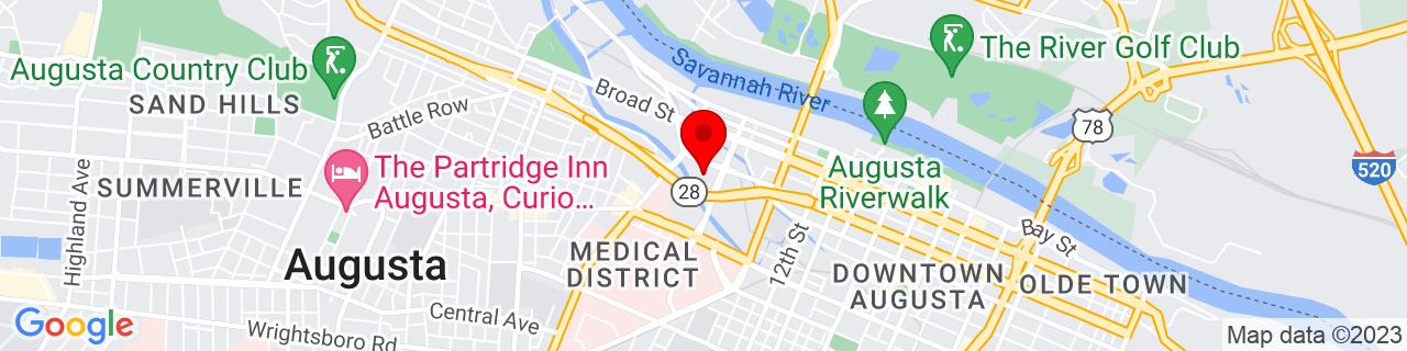 Google Map of 33.4775537, -81.98206569999999