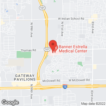 Map of Mona Mehta, MD at 9305 W. Thomas Road, Phoenix, AZ 85037