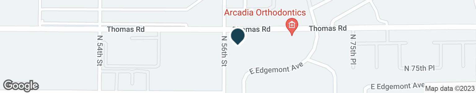 Google Map of5625 E THOMAS RD