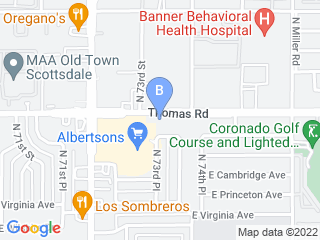 Map of Scottsdale Veterinary Clinic Dog Boarding options in Scottsdale | Boarding