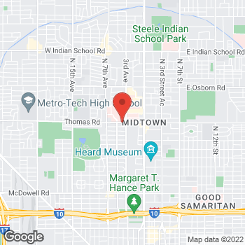 Map of Steven Sayegh, MD at 333 West Thomas Rd, Phoenix, AZ 85013