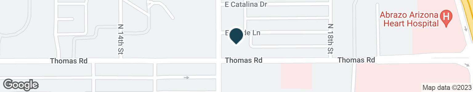 Google Map of1616 E THOMAS RD