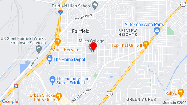 Google Map of 5500 Myron Massey Blvd, Fairfield, AL 35064