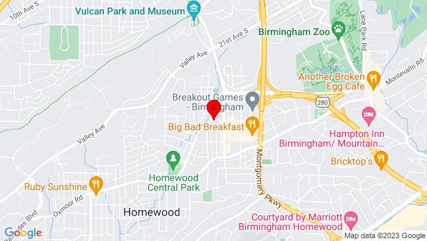 Google Map of 1715 27th Court South, Birmingham, AL 35209