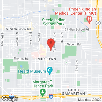 Map of Becky Van Buren, NP at 202 E. Earll Drive, Phoenix, AZ 85012