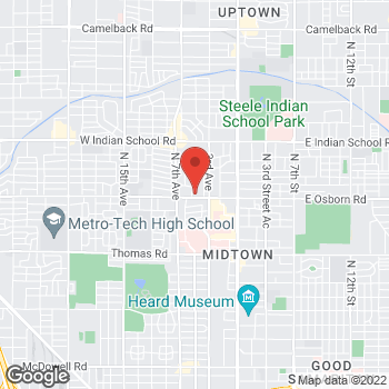 Map of Charles Creasman, MD at 444 W Osborn Road, Phoenix, AZ 85013