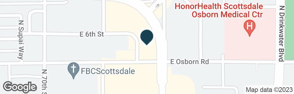 Google Map of3420 N SCOTTSDALE RD