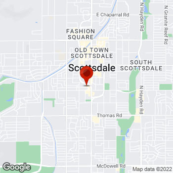 Map of Staples® Print & Marketing Services at 3550 North Goldwater Blvd., Scottsdale, AZ 85251
