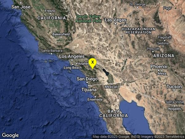earthquake 9km NE of Aguanga, CA
