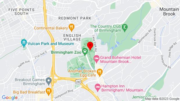 Google Map of 2612 Lane Park Road, Birmingham, AL 35223