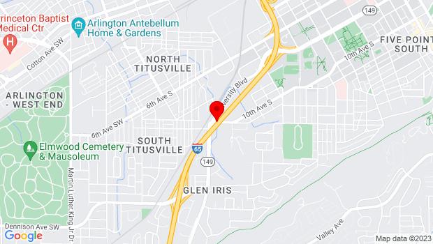 Google Map of 331 16th Avenue South, Birmingham, AL 35205
