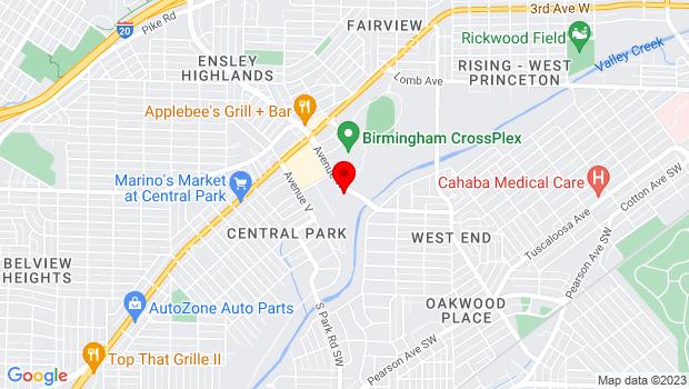 Google Map of 4812 Avenue W , Birmingham, Alabama 35208