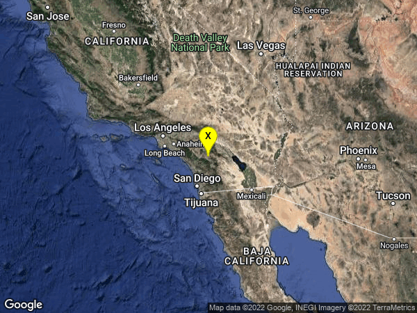 earthquake 8km NE of Aguanga, CA