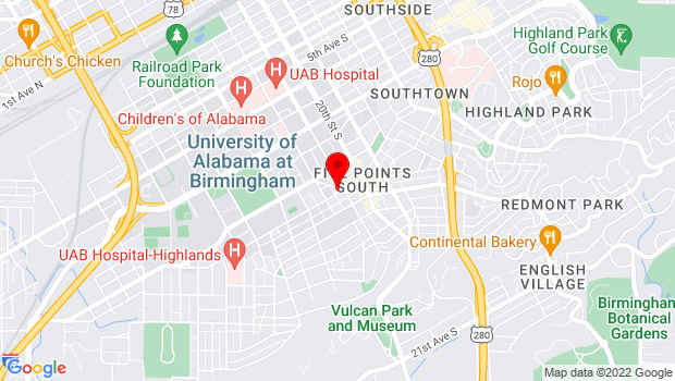 Google Map of 1814 11th Ave S , Birmingham, Alabama 35205