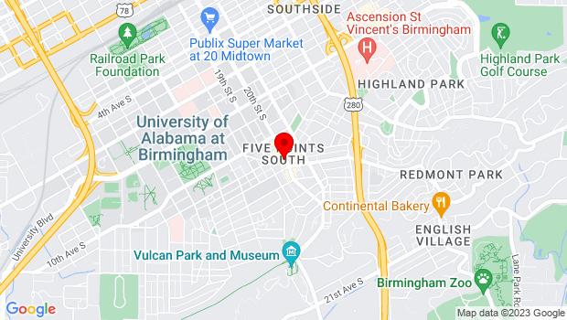 Google Map of 1108 20th Street South, Birmingham, AL 35205