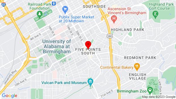 Google Map of 1035 20th Street South, Birmingham, Alabama 35205