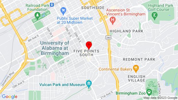 Google Map of 1045 20th Street South, Birmingham, AL 35205